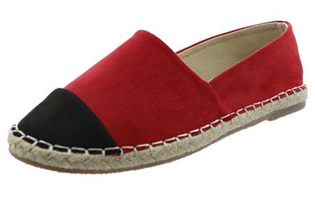 Espadrilles in leather, suède of snake look & diverse kleuren | Shop ze nu voor een bodemprijs! rood suède look