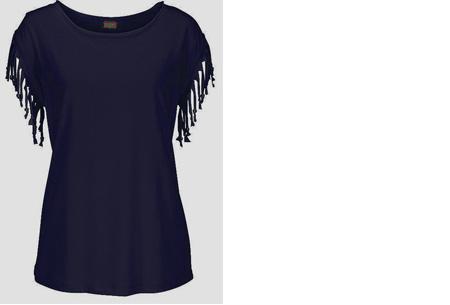 Fringe t-shirt | Verkrijgbaar in 8 verschillende kleuren Donkerblauw