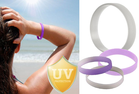 Set van 3 UV-indicator polsbandjes