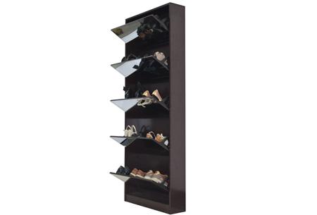 Schoenenkast met spiegel en korting | Stijlvol, praktisch en overzichtelijk! Bruin XL
