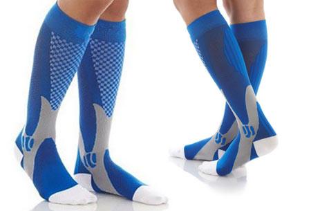Compressie sportsokken | Helpt bij diverse beenklachten & zorgt voor een betere prestatie blauw