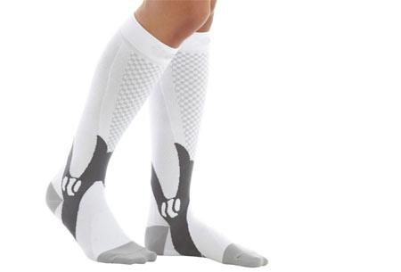 Compressie sportsokken | Helpt bij diverse beenklachten & zorgt voor een betere prestatie wit