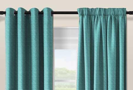 geweven verduisterende gordijnen kant en klaar verkrijgbaar in verschillende maten en kleuren mint turquoise