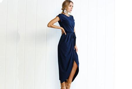 Gorgeous maxi jurk | Basic met sexy touch Navy