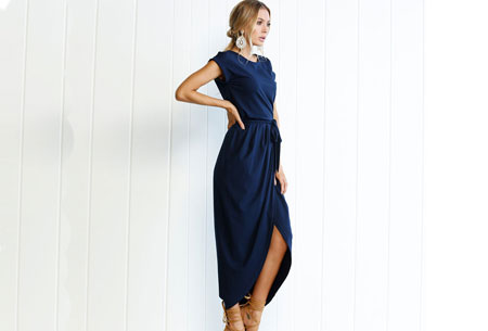 Gorgeous maxi jurk | Basic met sexy touch Navy