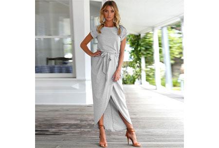 Gorgeous maxi jurk | Basic met sexy touch Grijs