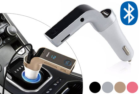 Bluetooth carkit fm transmitter 4-in-1