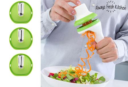 Spiraal groentesnijder 3-in-1