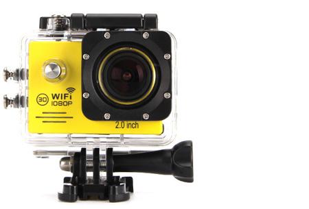 Action camera full HD 1080P met Wifi | Leg al jouw actiemomenten vast Geel