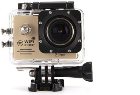 Action camera full HD 1080P met Wifi | Leg al jouw actiemomenten vast Goud