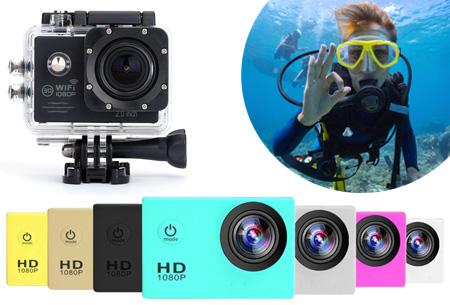 Action camera full HD 1080P met Wifi
