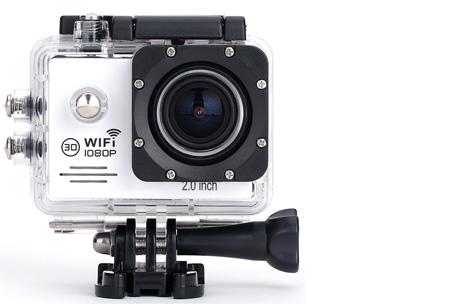 Action camera full HD 1080P met Wifi | Leg al jouw actiemomenten vast Wit
