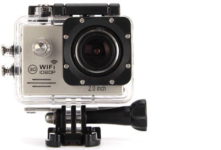 Action camera full HD 1080P met Wifi | Leg al jouw actiemomenten vast Zilver