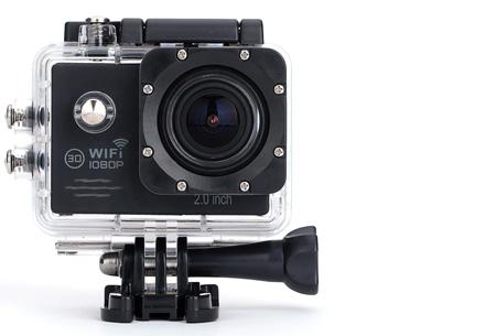 Action camera full HD 1080P met Wifi | Leg al jouw actiemomenten vast Zwart