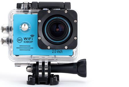 Action camera full HD 1080P met Wifi | Leg al jouw actiemomenten vast Blauw
