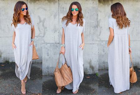 Stylish maxi jurk | De perfecte jurk voor dit seizoen Grijs