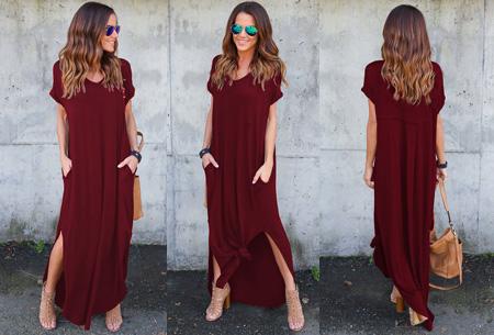 Stylish maxi jurk | De perfecte jurk voor dit seizoen Wijnrood