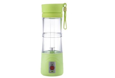 Draadloze Blender bottle | Altijd en overal een eigen gemaakte smoothie Groen