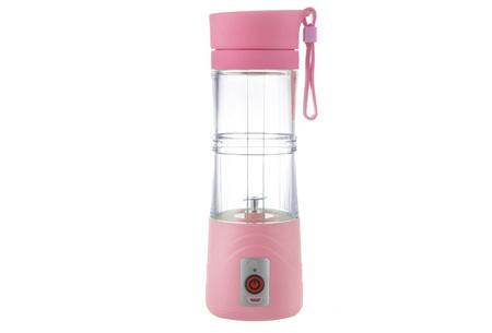 Draadloze blender bottle | Altijd en overal een eigen gemaakte smoothie Roze