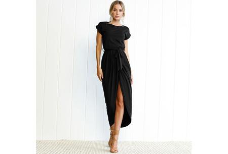 Gorgeous maxi jurk | Basic met sexy touch Zwart