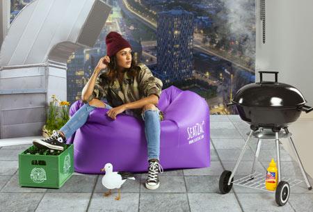 SeatZac zelfopblaasbare chillbag | Binnen no time opgeblazen door er lucht mee te vangen!