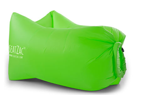 SeatZac zelfopblaasbare chillbag | Binnen no time opgeblazen door er lucht mee te vangen! Wild Green