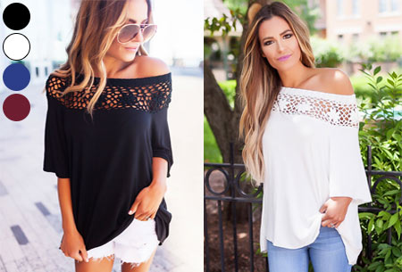 Elegance off shoulder top