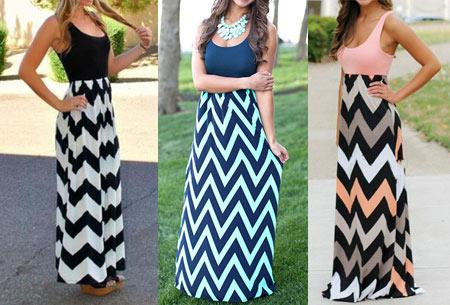 Zigzag maxi jurk