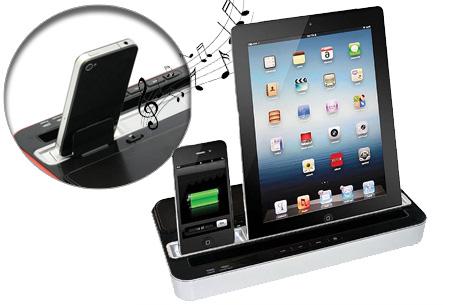 Docking charge station | Laadt Android en iOS tegelijkertijd op