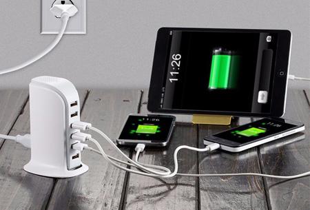 Oplaadstation met 6 USB-poorten