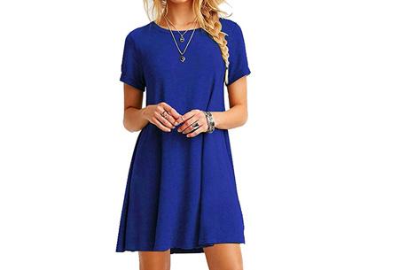 Sophisticated tuniek met korte mouw | Stijlvol, chique en vrouwelijk! Blauw