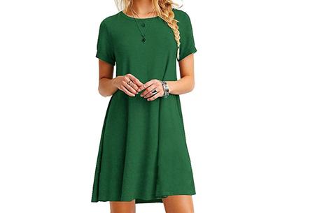 Sophisticated tuniek met korte mouw | Stijlvol, chique en vrouwelijk! Groen