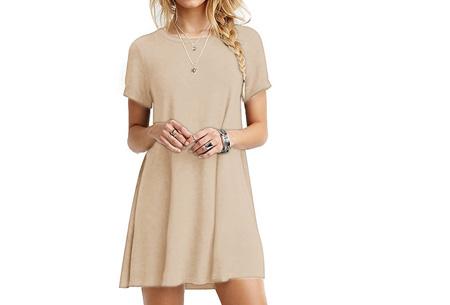 Sophisticated tuniek met korte mouw | Stijlvol, chique en vrouwelijk! Khaki