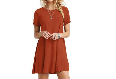 Sophisticated tuniek met korte mouw | Stijlvol, chique en vrouwelijk! Oranje