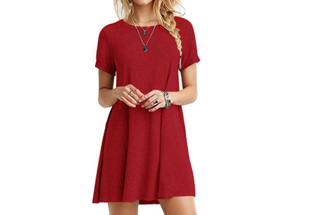 Sophisticated tuniek met korte mouw | Stijlvol, chique en vrouwelijk! Rood