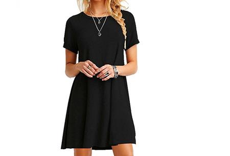 Sophisticated tuniek met korte mouw | Stijlvol, chique en vrouwelijk! Zwart