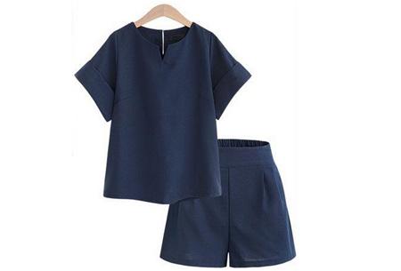 Two piece kledingset | Broek en top nu met mega korting Blauw