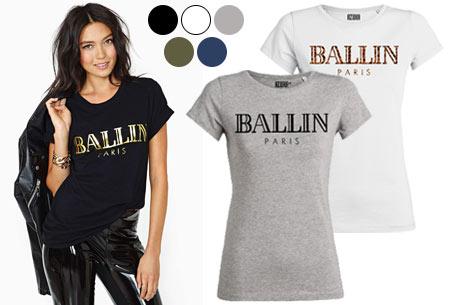 88d4954d9e0 BALLIN Paris dames t-shirt in diverse uitvoeringen
