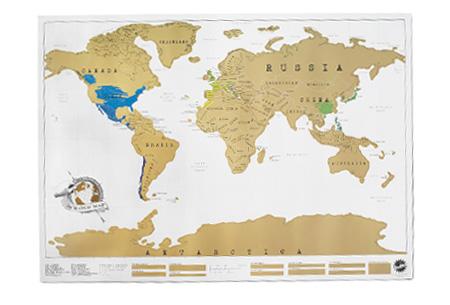 Wereld kraskaart | Kras aan in welke landen jij geweest bent!  Crème
