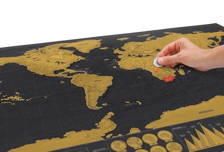 Wereld kraskaart | Kras aan in welke landen jij geweest bent!