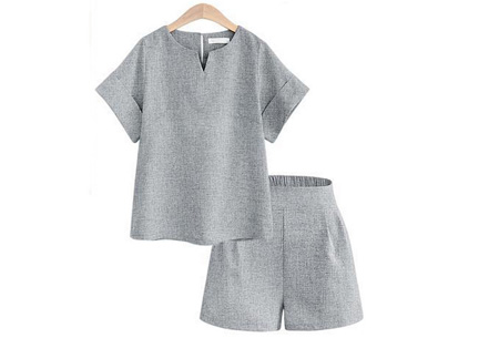 Two piece kledingset | Broek en top nu met mega korting Grijs