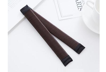 Magic bun set van 2 stuks | Maak een mooie knot in een handomdraai Chocolate