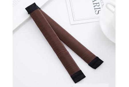 Magic bun set van 2 stuks | Maak een mooie knot in een handomdraai Coffee