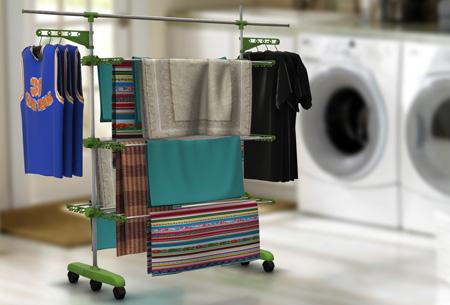 Multifunctioneel droogrek | Ruimte voor al je wasgoed