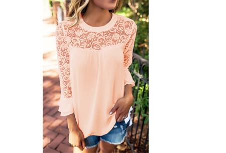 Lace blouse | Stijlvol, trendy en op & top vrouwelijk Lichtroze