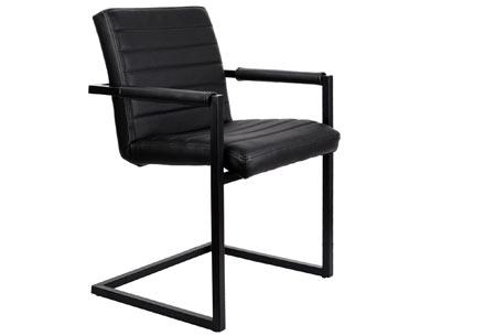 Lederen Conference stoelen | Strak industrieel ontwerp & hoogwaardige materialen zwart