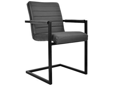 Lederen Conference stoelen | Strak industrieel ontwerp & hoogwaardige materialen grijs
