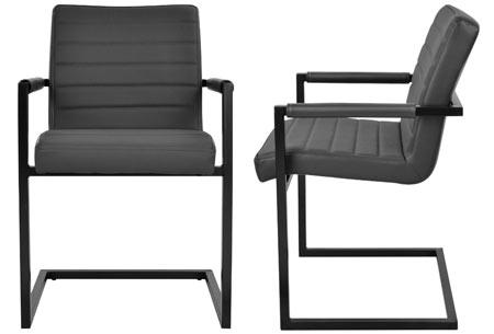 Lederen Conference stoelen | Strak industrieel ontwerp & hoogwaardige materialen