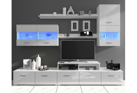Praktisch Tv Meubel.Complete Tv Meubel Set Zwart