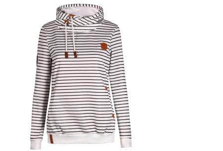 Stripe sweater | Super comfy sweater voor een hippe & casual look wit